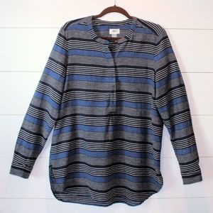 Old Navy Striped Linen/Cotton Striped Top Large